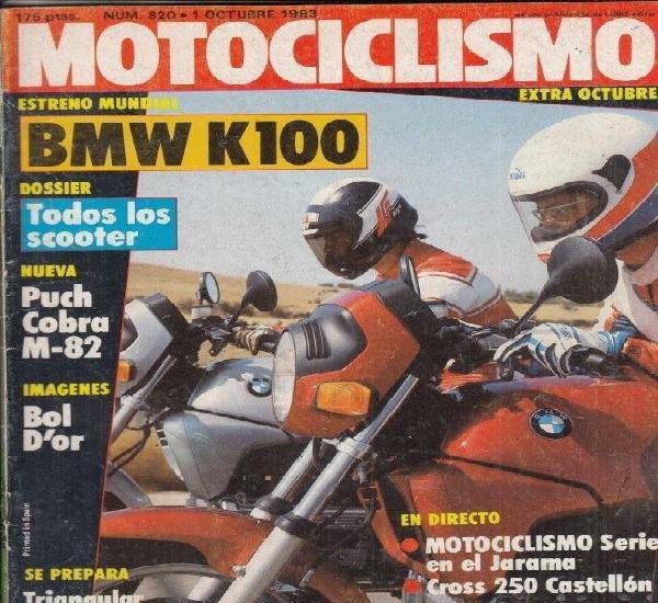 Revista motociclismo nº 820 año 1983. prueba: vespa 125