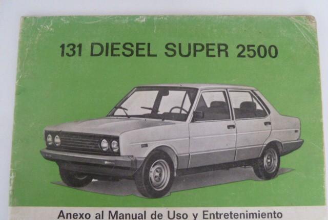 Seat 131 diesel super 2500 anexo del manual de usuario y