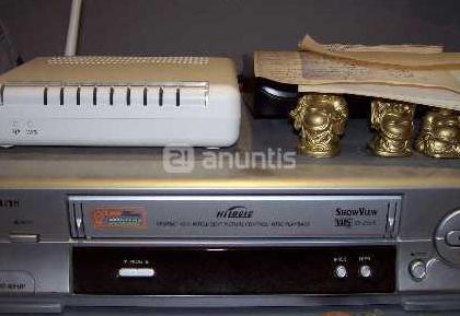 Video grabador vhs samsug sv-255-x y cintas bruce