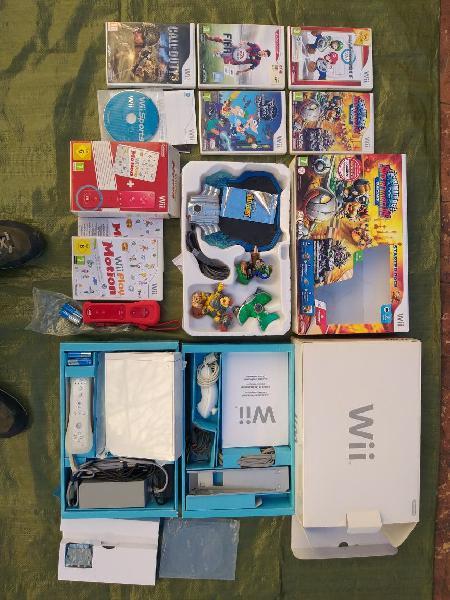 Wii + pack de juegos + starter pack