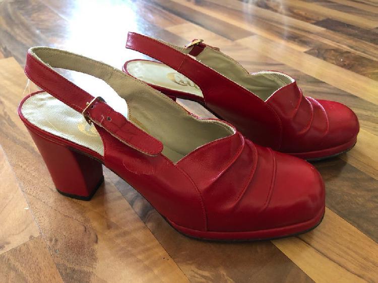 Zapatos vintage piel t35