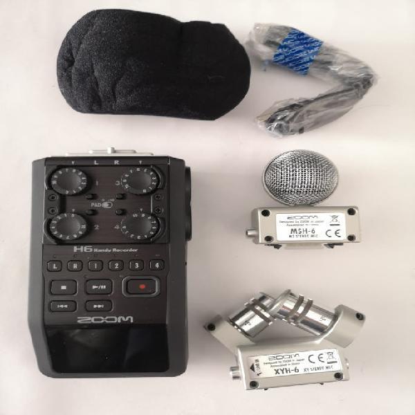 Zoom h6 grabadora de audio portátil