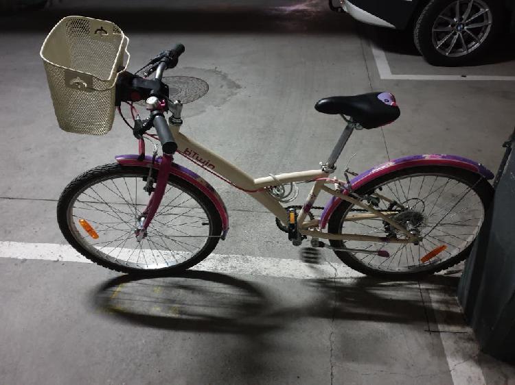 """Bici paseo decathlon niña 24"""""""