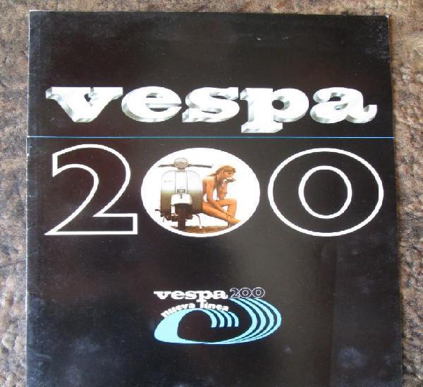 Catalogo original vespa p 200 nueva linea p200