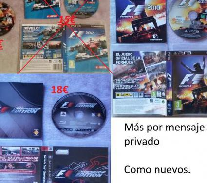 Colección f1 championship 2012 2010 ps3