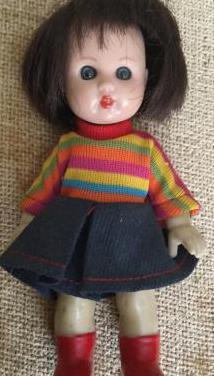 Mariquita pérez pequeña rayas
