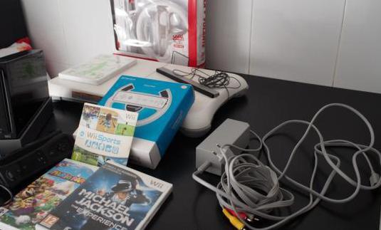 Nintendo wii original negra, accesorios y juegos