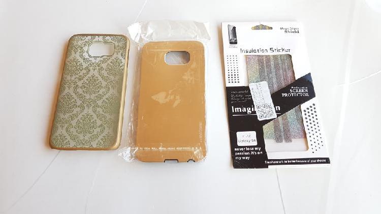 Samsung galaxy s6 2 carcasas y protector