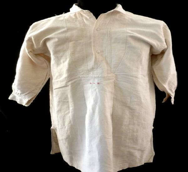 Antigua camisa de lino para caballero - principios s.xx