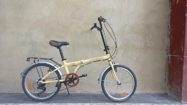 Bicicleta plegable con cambios shimano de segunda