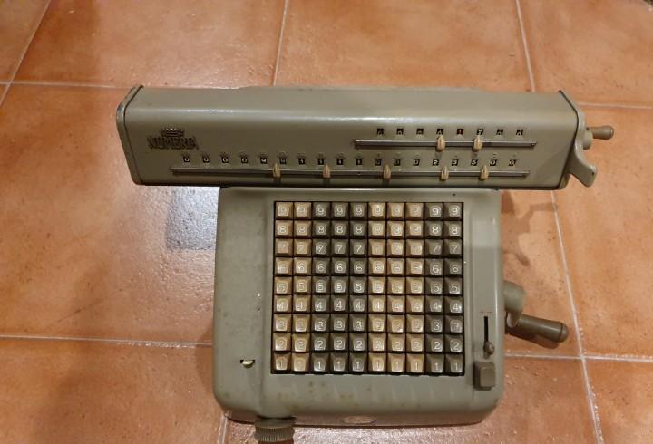 Calculadora máquina de calcular lagomarsino funcionando