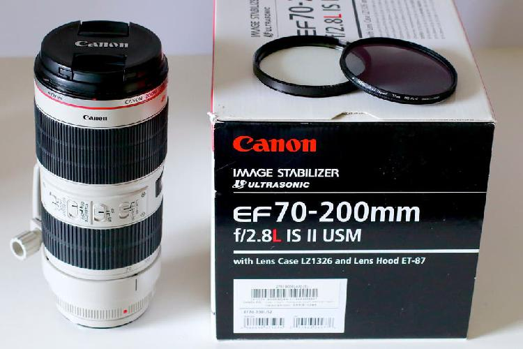 Canon 70 200 2.8 ii impecable