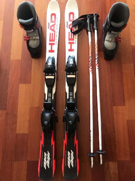 Esquís, botas y bastones niño/niña head