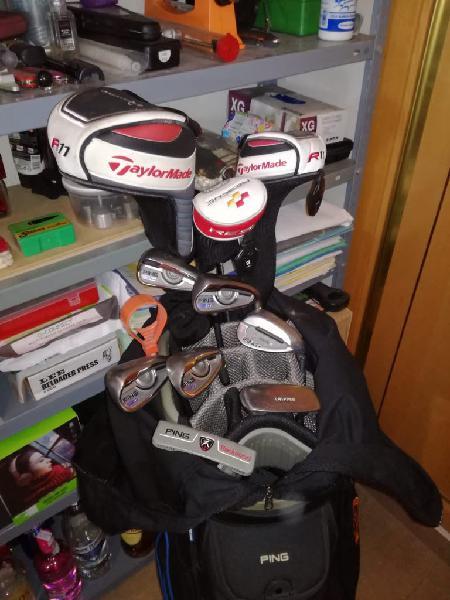 Juego palos de golf taylor made y ping