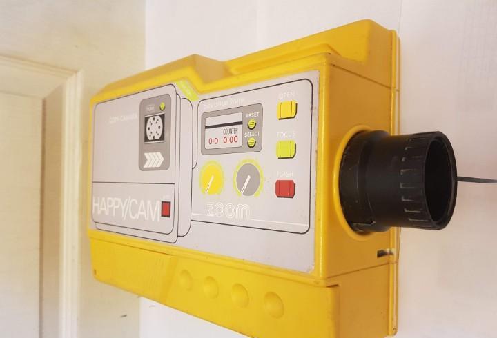 Juguete proyector cine famosa happy cam funcionando años 80
