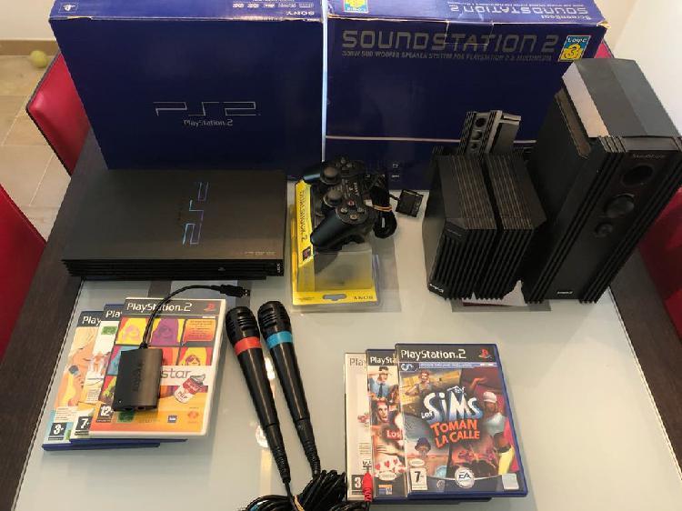 Lote ps2 + soundstation2 3 altavoces + 6 juegos