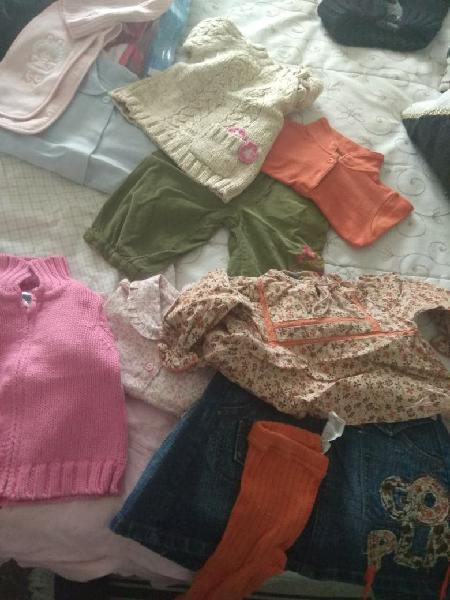 Lote ropa bebe niña. tallas 3-6 y 6-9 meses