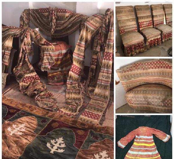 Murcia. rarisima decoración textil completa del s. xix -
