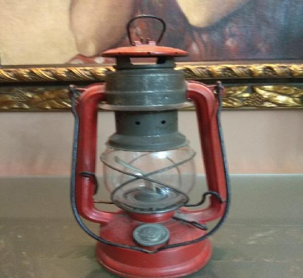 Original farol lampara de aceite vintage sellado muy antiguo