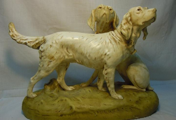 Perros de porcelana royal dux de h. schubert de pps. siglo