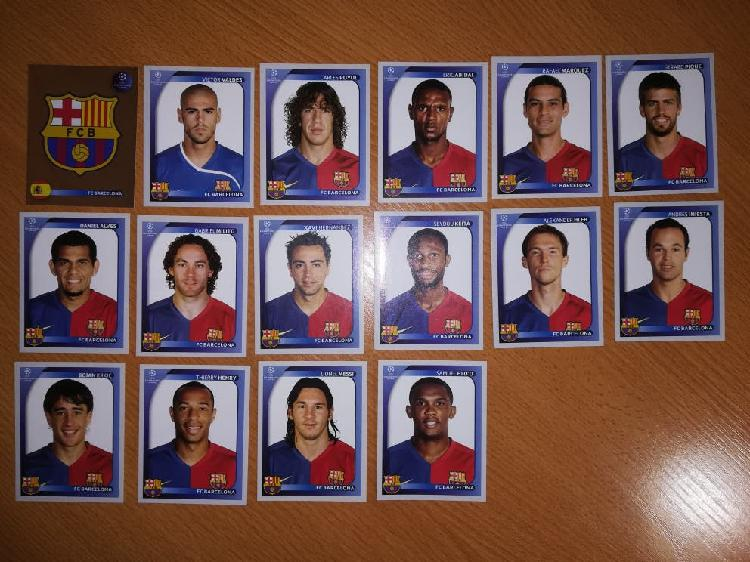 Plantilla barça campeón champions league 2008-09
