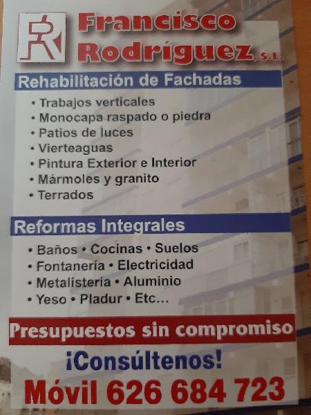 Reformas y rehabilitación de fachadas