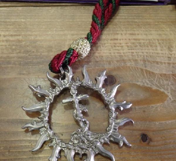 Semana santa sevilla, medalla con cordon hermandad del sol,