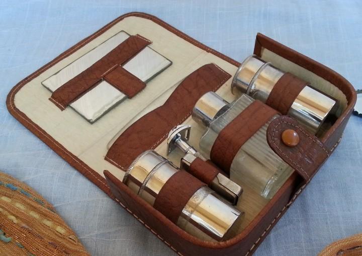 Set de afeitado vintage. set de viaje. old shaving set