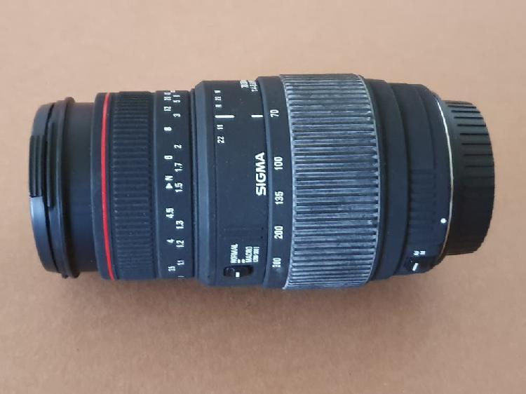 Sigma 70-300 1:4-5,6 apo dg macro - montura canon