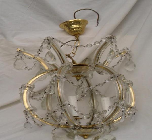 Lampara italiana de cristal con lagrimas