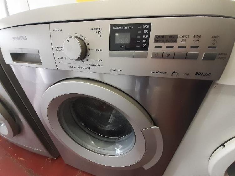 Lavadora siemens 7 kg, segunda mano con garantía