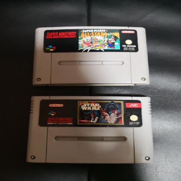 Pack de 2 juegos originales de super nintendo