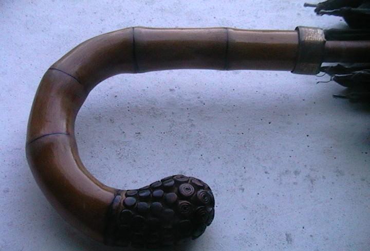 Paraguas antiguo bambu inglés sombrilla