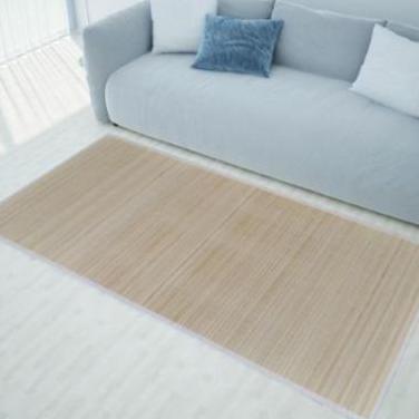241333 alfombra de bambú natural rectangular, ...