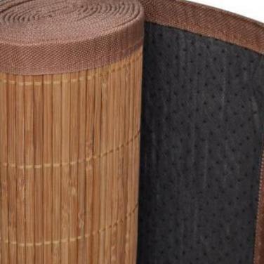 241337 alfombra de bambú natural, rectangular ...