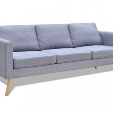 242219 sofá de 3 plazas de tela gris claro