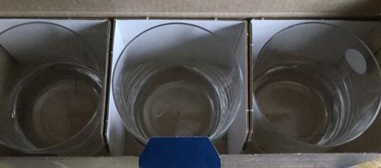 3 vasos bajos cristal bohemia