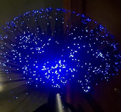 Arbol decoración luz fibra óptica