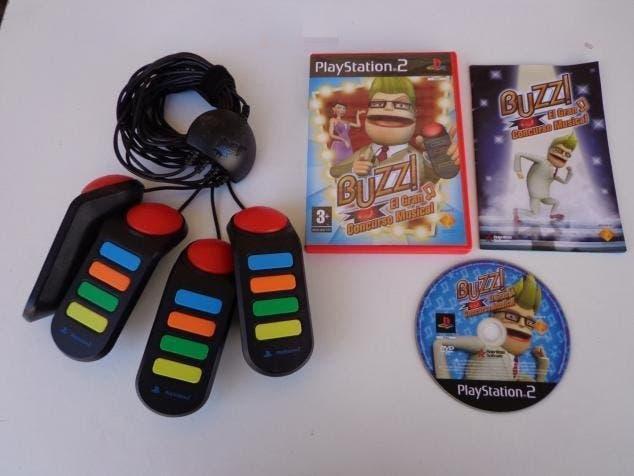 Buzz! el gran concurso musical +4 mandos ps2