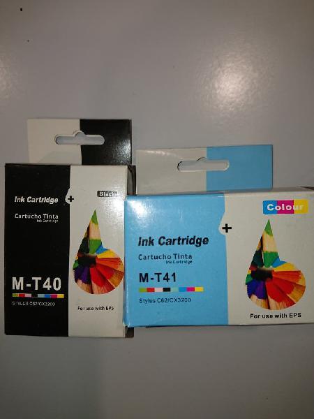 Cartuchos tinta x2 compatibles epson t40 t41