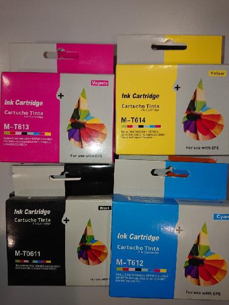 Cartuchos tinta x9 comp. epson t611 t612 t613 t614