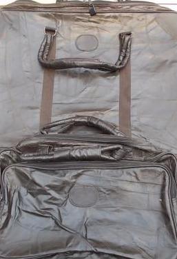 Juego maletas antiguas de piel