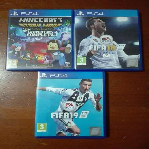 Juegos playstation 4 (minecraft y fifa 18/19)
