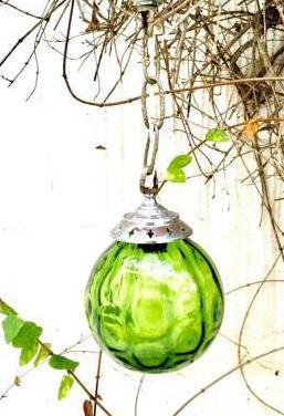 Lámpara colgante cristal vintage