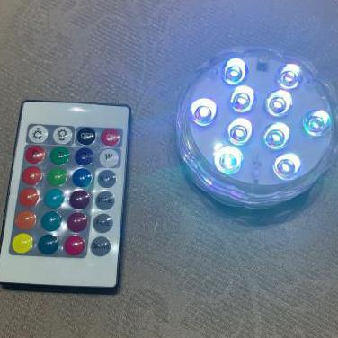Lámpara luces colores mando