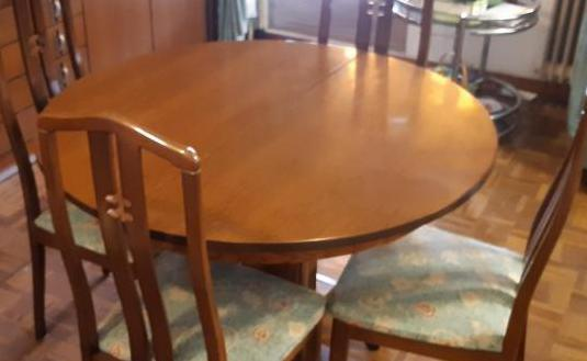 Mesa extensible comedor con 6 sillas