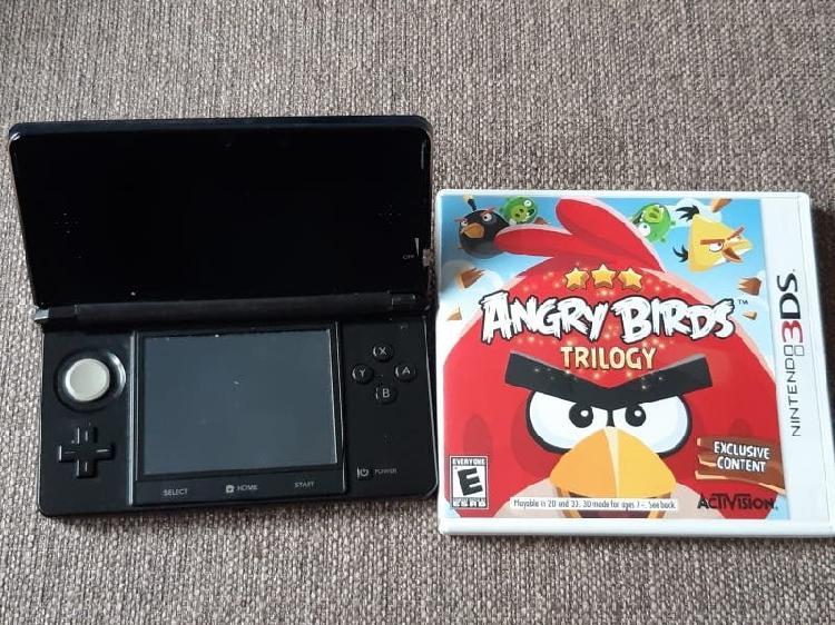 Nintendo 3ds y juego angry birds 160