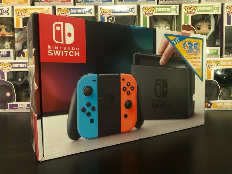 Nintendo switch v1 neón, nueva a estrenar