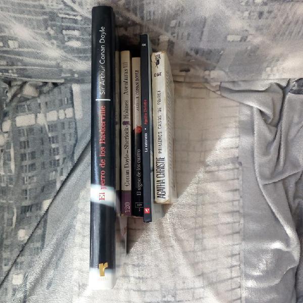 Pack de libros sherlock holmes + agatha christie