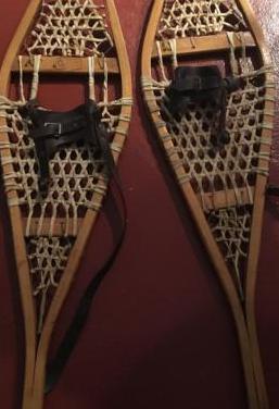 Raquetas de nieve antiguas madera canada